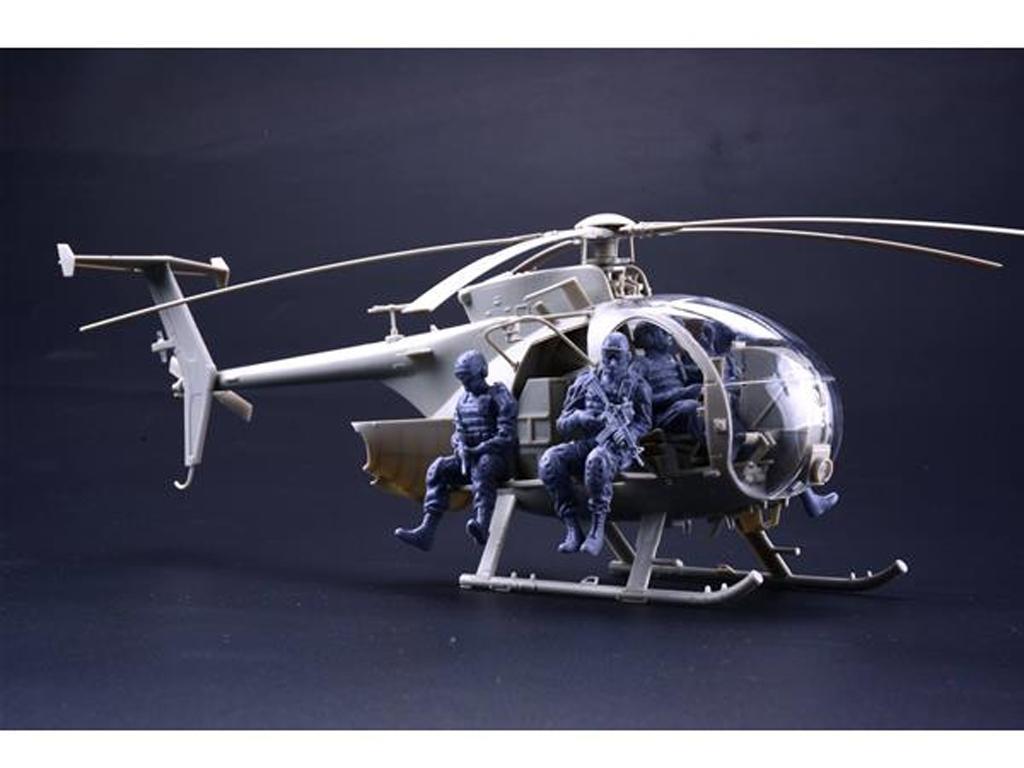 AH-6J/MH-6J Pajarillo con 6 figuras de r (Vista 2)