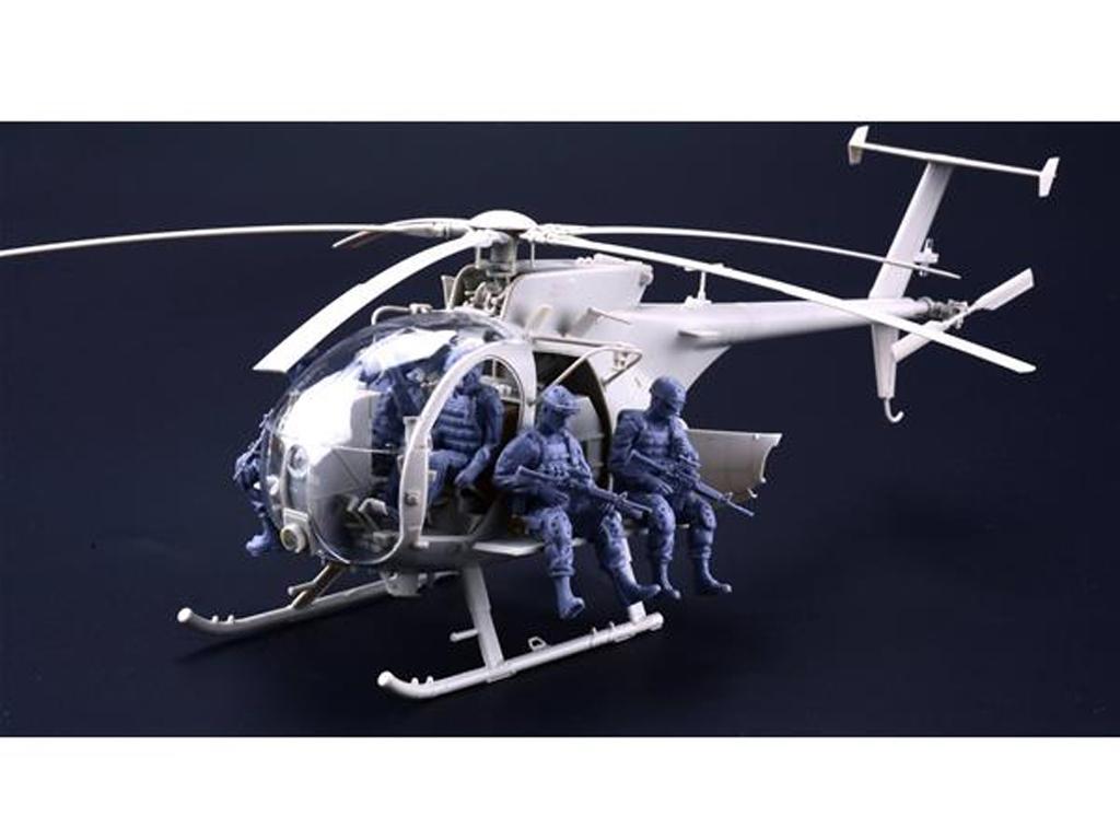 AH-6J/MH-6J Pajarillo con 6 figuras de r (Vista 4)