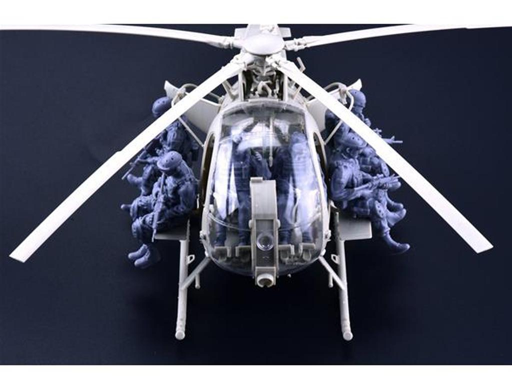 AH-6J/MH-6J Pajarillo con 6 figuras de r (Vista 5)