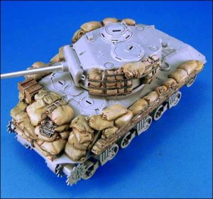 Sherman M4A3 sandbag Armor set #2  (Vista 2)