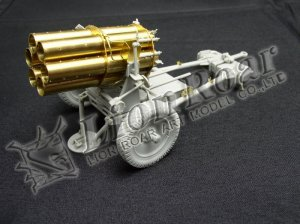 Lanzacohetes alemán 15 cm. Nebelwerfer   (Vista 6)