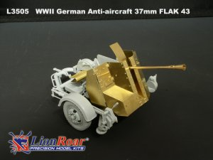German Anti-Aircraft 37mm FLAK 43  (Vista 6)