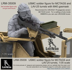 USMC soldier for MCTAGS and LAV-25