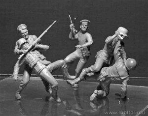 Marines rusos y soldados Alemanes cuerpo  (Vista 2)