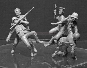 Marines rusos y soldados Alemanes cuerpo  (Vista 4)