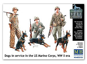 Dogs in the service in Marine Corps, WW   (Vista 1)