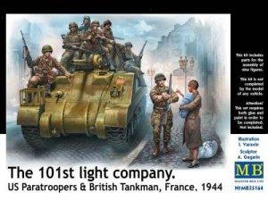 US Paratroopers & British Tankman, Franc  (Vista 1)