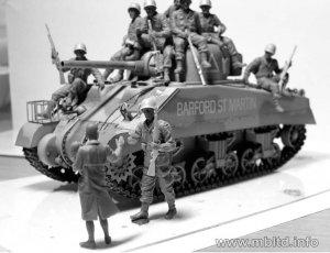 US Paratroopers & British Tankman, Franc  (Vista 5)
