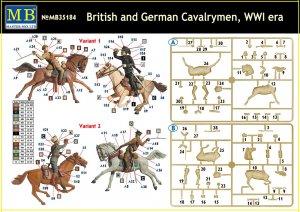 British and German Cavalrymen, WWI  (Vista 6)