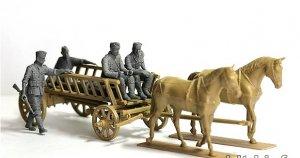 Carromato alemán transportando heridos  (Vista 2)