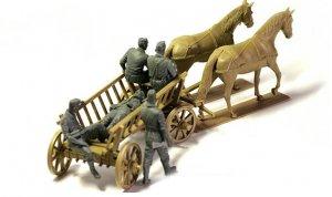 Carromato alemán transportando heridos  (Vista 3)