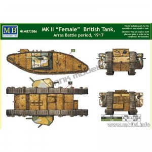 MK II Female British Tank, Arras Battle   (Vista 2)