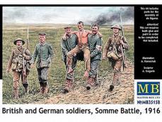 Soldados Britanicos y Alemanes, Batalla de Somme 1916 - Ref.: MBOX-35158
