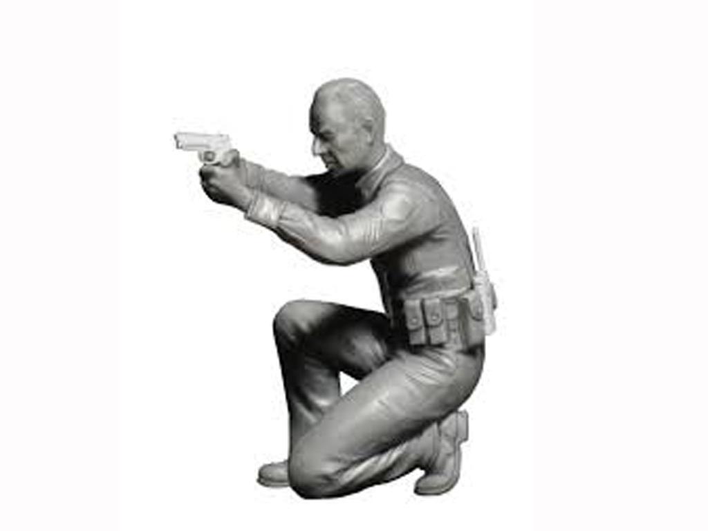 Disparos - Un oficial necesita ayuda (Vista 2)