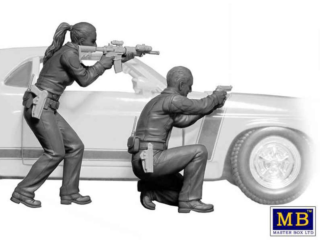 Disparos - Un oficial necesita ayuda (Vista 3)