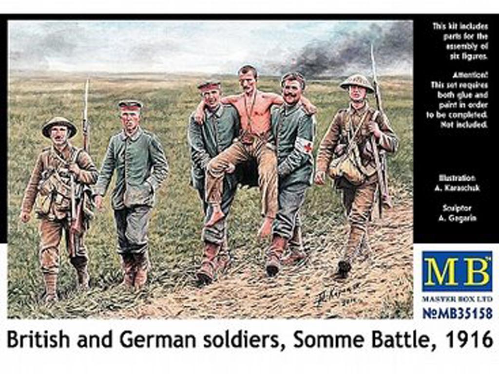 Soldados Britanicos y Alemanes, Batalla de Somme 1916 (Vista 1)