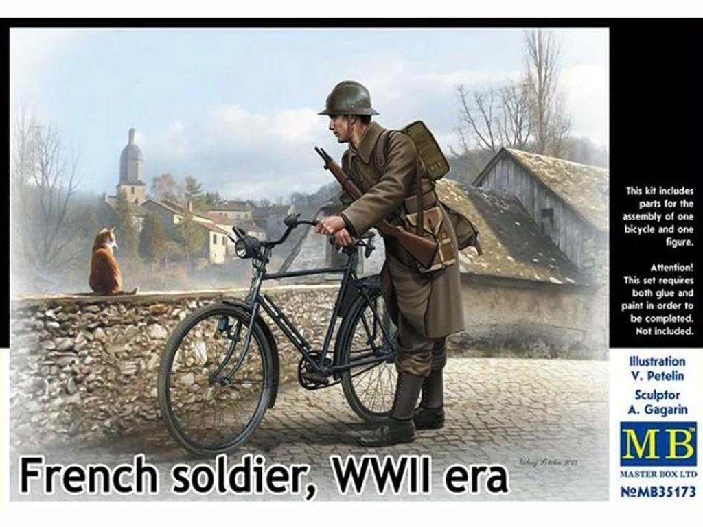 Soldado Frances con Bicicleta 1940 (Vista 1)