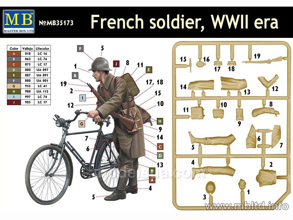 Soldado Frances con Bicicleta 1940 (Vista 2)