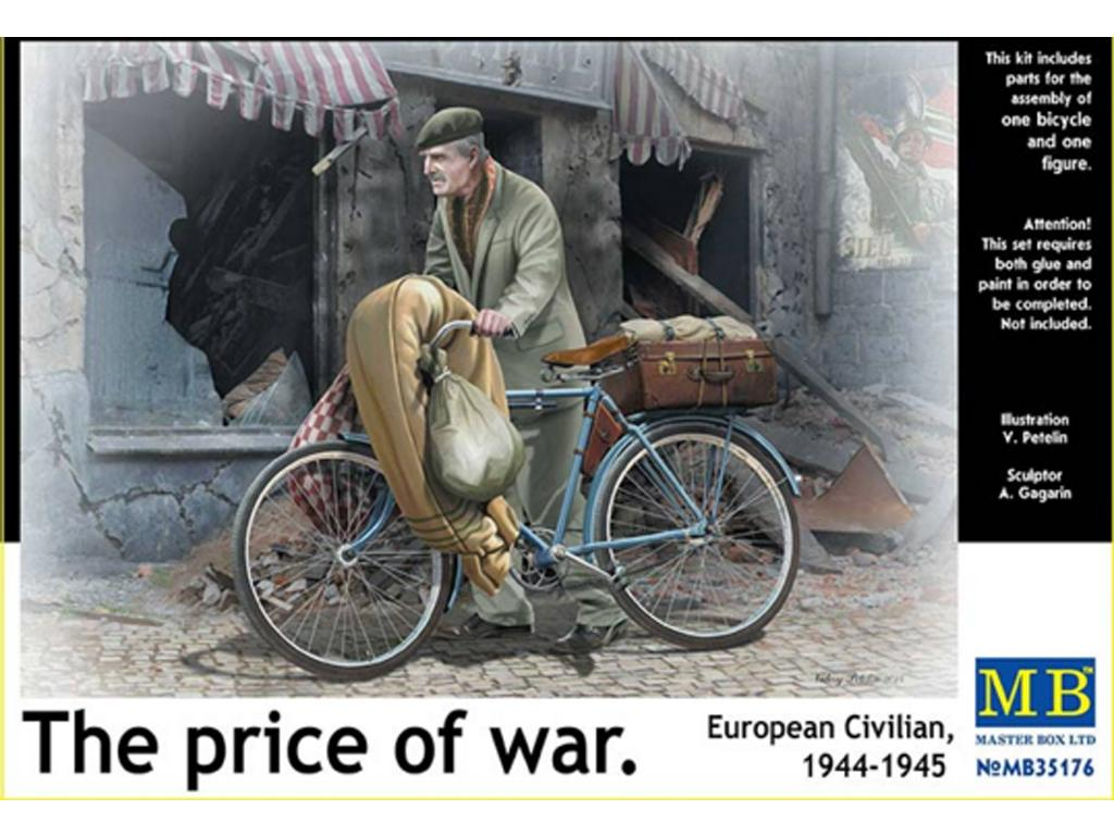 Civil Europeo en Bicicleta 1945  (Vista 1)