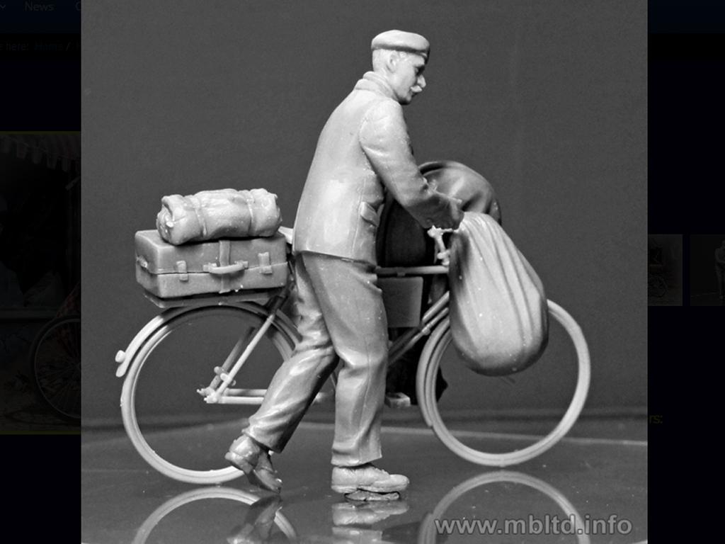 Civil Europeo en Bicicleta 1945  (Vista 2)