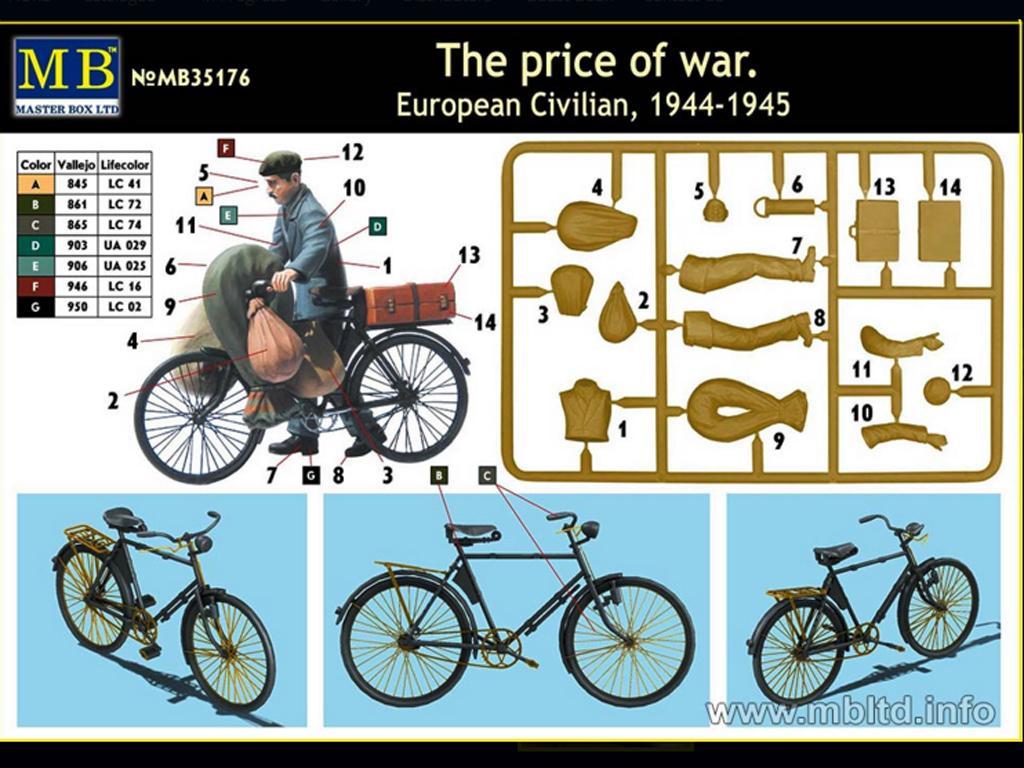 Civil Europeo en Bicicleta 1945  (Vista 3)