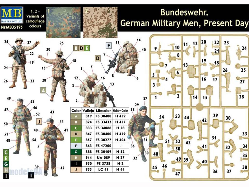 Soldados Alemanes Modernos (Vista 3)