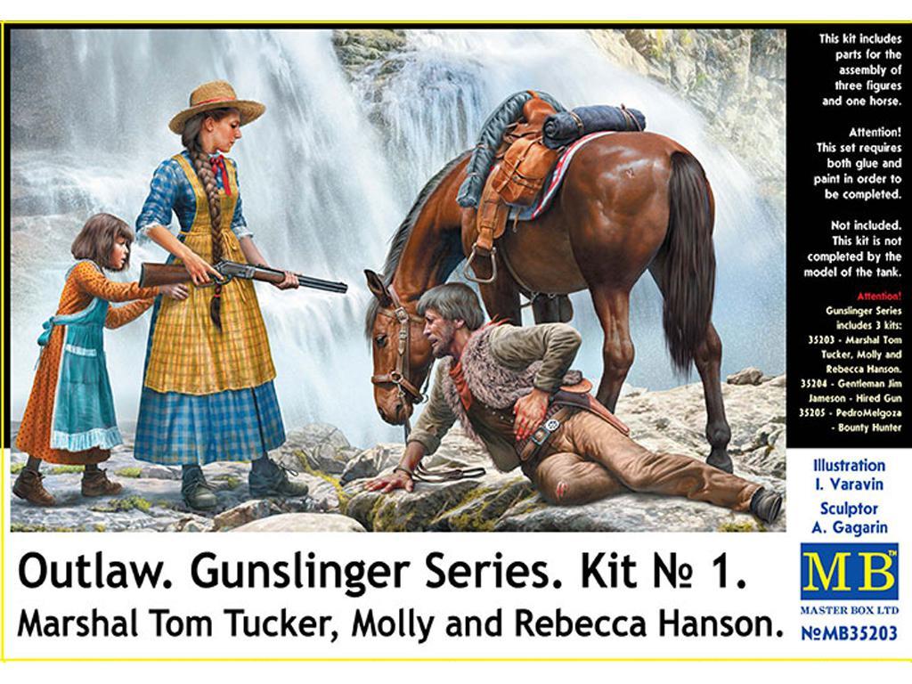 Marshal Tom Tucker, Molly and Rebecca Hanson (Vista 1)