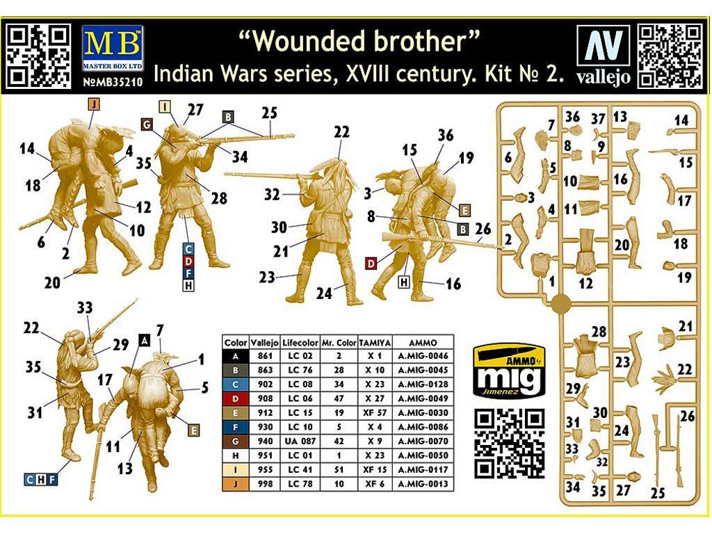 Hermano herido. Serie de Guerras Indias (Vista 3)