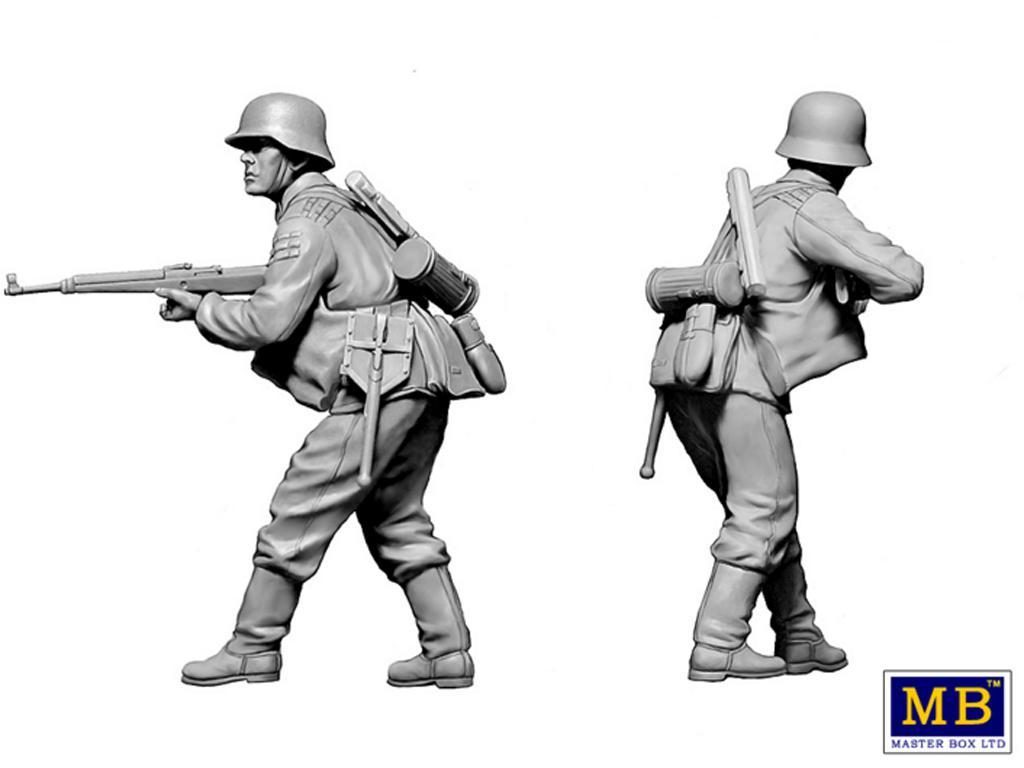 Militares alemanes 1944-1945.  (Vista 4)