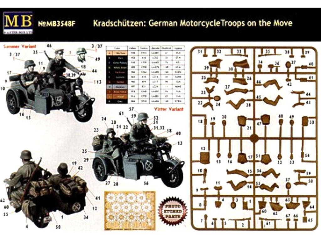 Motoristas alemanes 4 figuras y moto (Vista 2)
