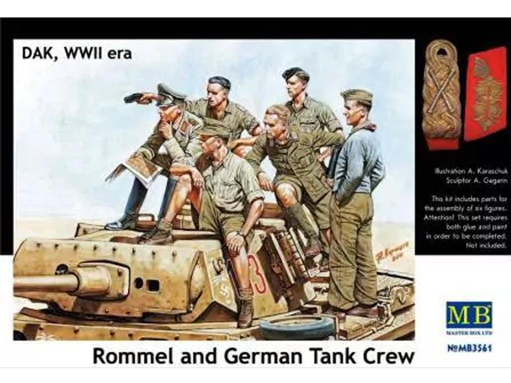 Rommel y carristas Afrika Korps  (Vista 1)