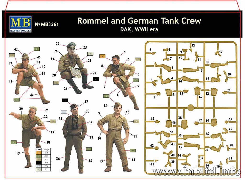 Rommel y carristas Afrika Korps  (Vista 2)