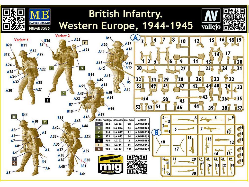 Infantería Británica. Europa Occidental. 1944-1945 (Vista 3)
