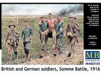 Soldados Britanicos y Alemanes, Batalla de Somme 1916 (Vista 6)