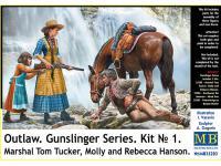 Marshal Tom Tucker, Molly and Rebecca Hanson (Vista 8)