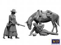 Marshal Tom Tucker, Molly and Rebecca Hanson (Vista 11)
