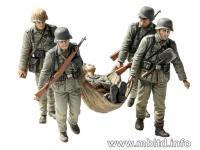 Infantería alemana evacuando herido. Sta (Vista 10)