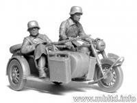 Motoristas alemanes 4 figuras y moto (Vista 21)