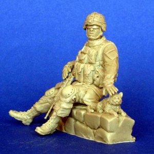 Soldado Americano con gato   (Vista 2)