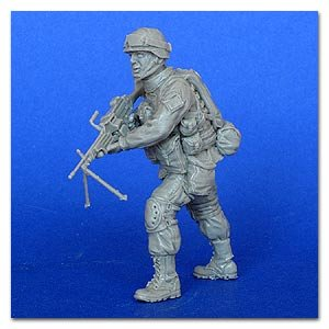 The modern American Soldier with M249 ma  (Vista 1)