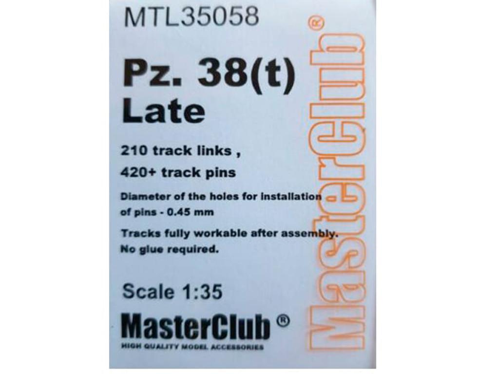 Metal Tracks for Pz 38t Late  (Vista 1)
