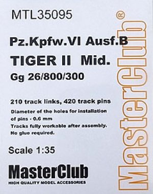 Orugas Pz.Kpfw.VI Ausf.B Kingtiger Mid  (Vista 1)