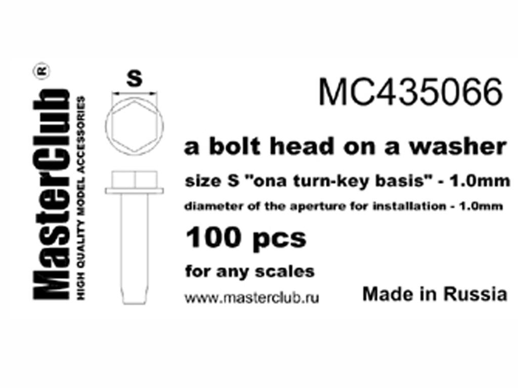 Tornillo exagonal 1,0 mm (Vista 1)