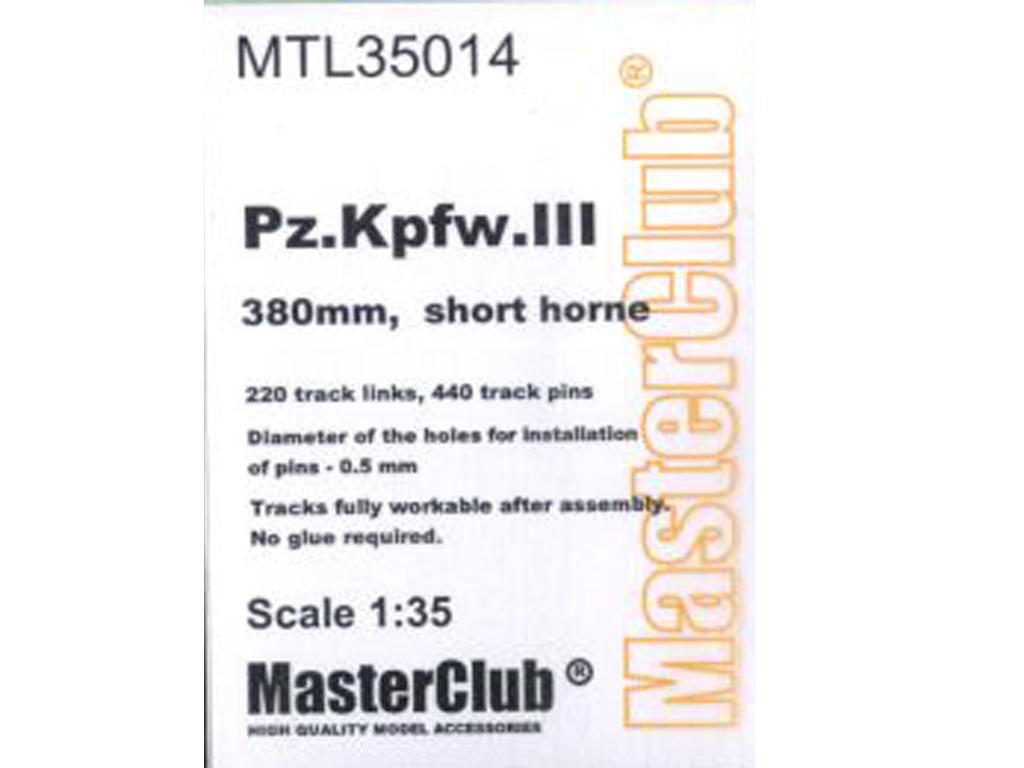 Tracks for Pz.Kpfw.III 380 mm short-horne (Vista 1)