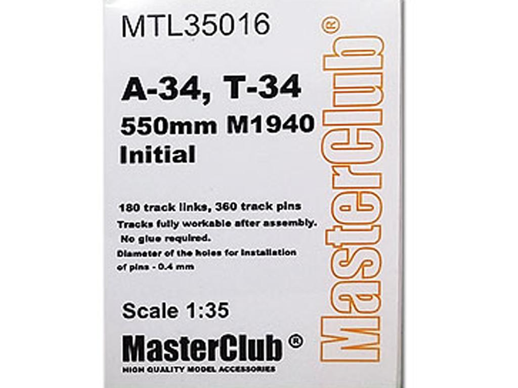 Tracks for T-34 550mm M1940 Initial (Vista 1)