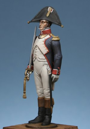 Officer of infantry of line to attention  (Vista 2)