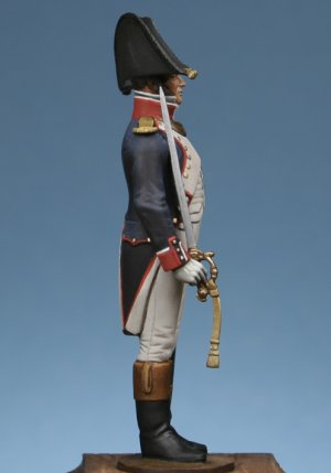 Officer of infantry of line to attention  (Vista 4)