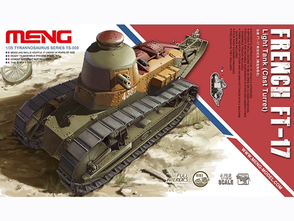 French FT-17  - Ref.: MENG-TS008