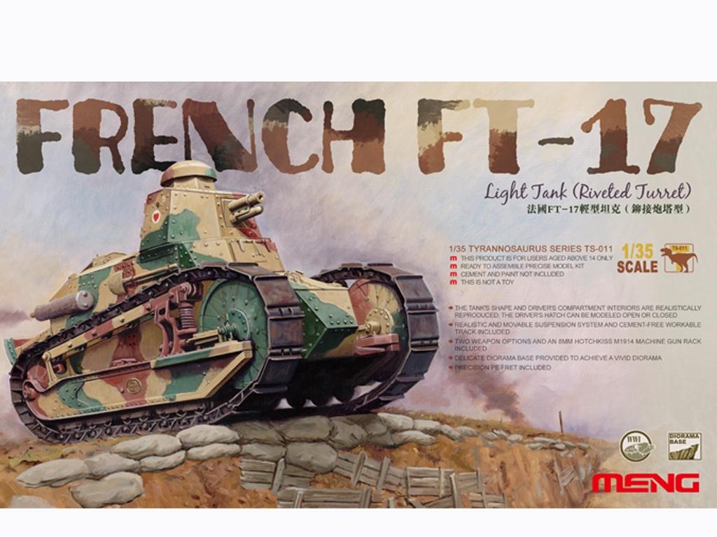 French FT-17 Light Tank - Ref.: MENG-TS011