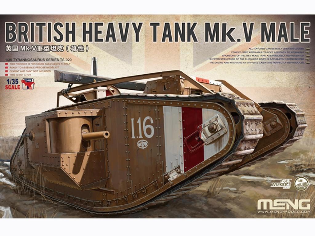 British Heavy Tank Mk.V Male - Ref.: MENG-TS020